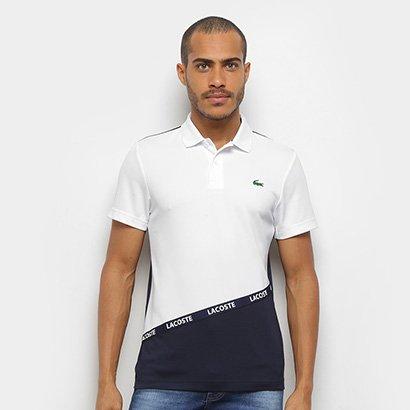 Camisa Polo Lacoste Bicolor Manga Curta Masculina