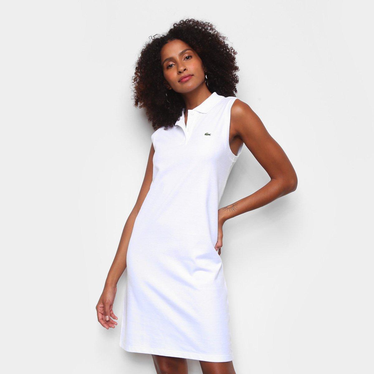 Vestido Curto Lacoste Gola Polo Feminino