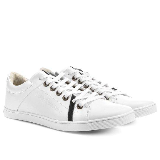 521a5700aba Tênis Couro Calvin Klein Cano Baixo Color Masculino - Compre Agora ...