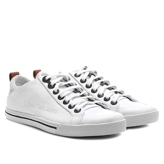 Sapatênis Couro Calvin Klein Recorte Masculino - Compre Agora   Netshoes 5295d01cd1