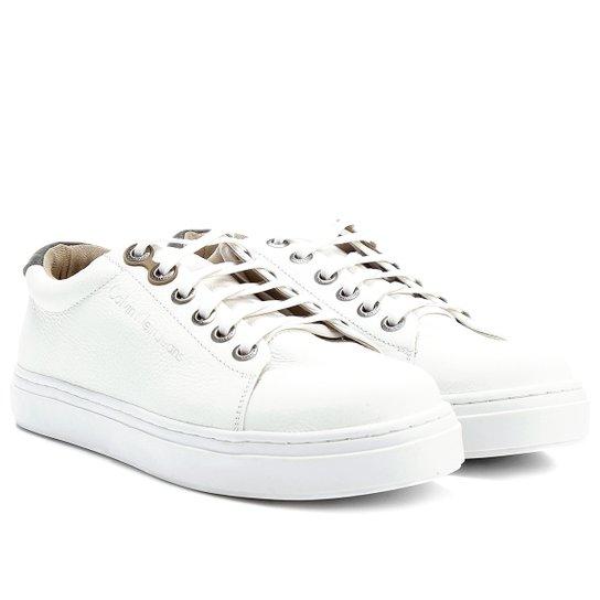 Sapatênis Couro Calvin Klein Baixo Masculino - Compre Agora   Netshoes d183fe6379
