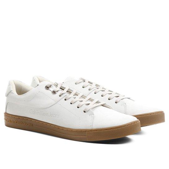 61a7aca4f398f Sapatênis Calvin Klein Natural - Compre Agora   Netshoes