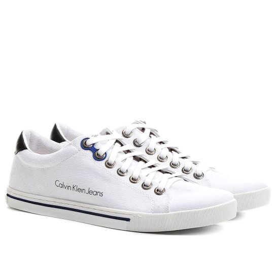 9647c763cd432 Sapatênis Calvin Klein Lona Friso - Compre Agora   Netshoes