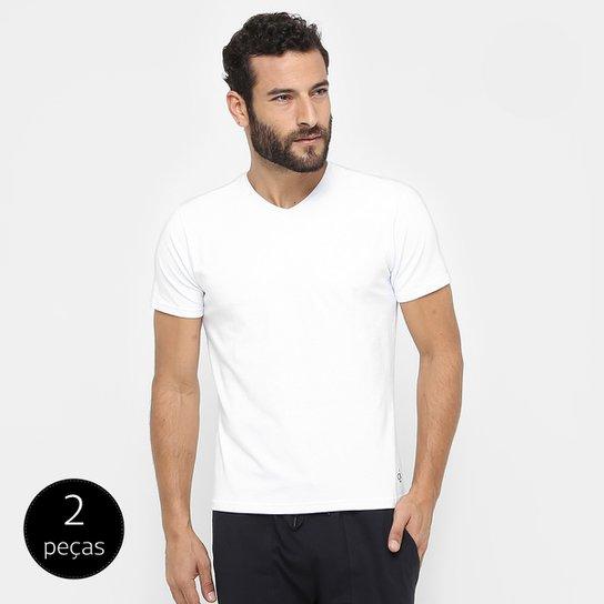 dd34b475cb Camiseta Pijama Calvin Klein Gola V 2 Peças - Compre Agora