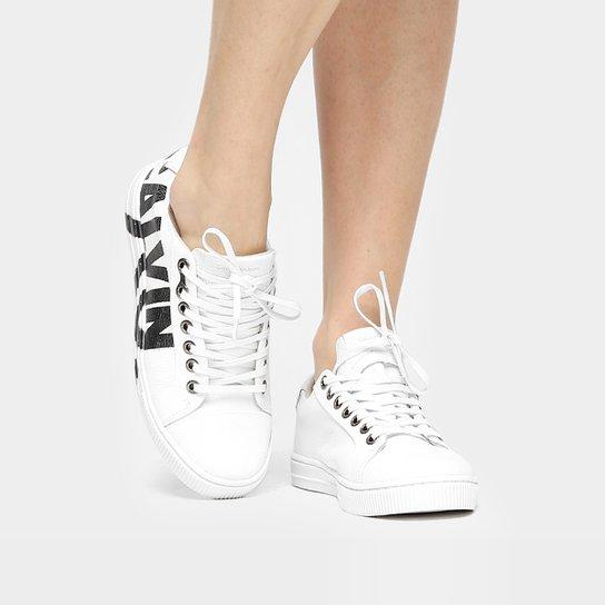 Tênis Couro Calvin Klein Escrito Feminino - Compre Agora  616e9756707