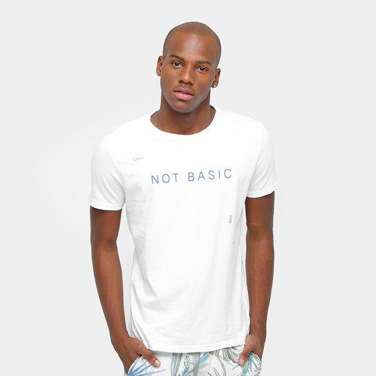 Camiseta Calvin Klein Not Basic Masculina - Compre Agora  50619192d77