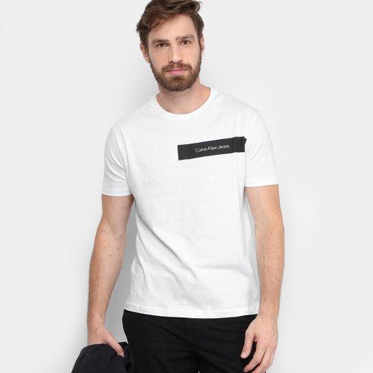 97c4d9a72c69c Camiseta Calvin Klein Logo Masculina - Compre Agora   Netshoes