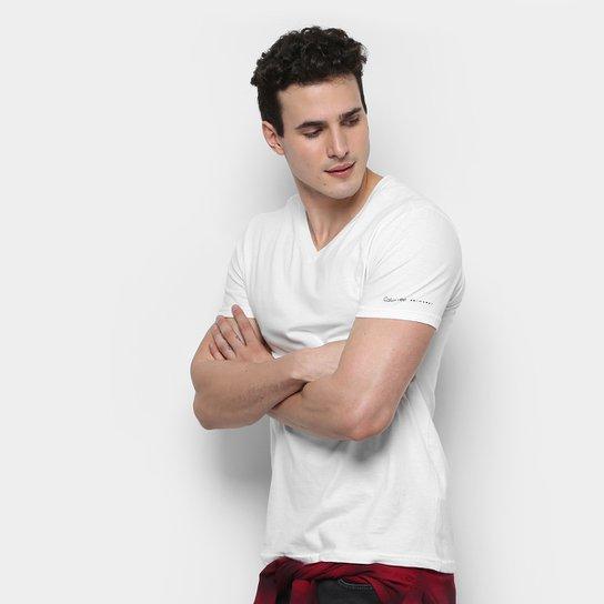 Camiseta Calvin Klein Swimwear Básica Masculina - Compre Agora ... 01cd52e4b0