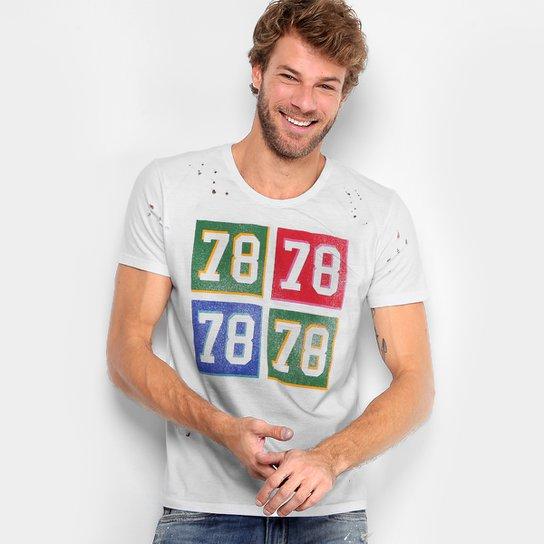 Camiseta Calvin Klein Furinhos 78 Masculina - Branco - Compre Agora ... c1000001ac