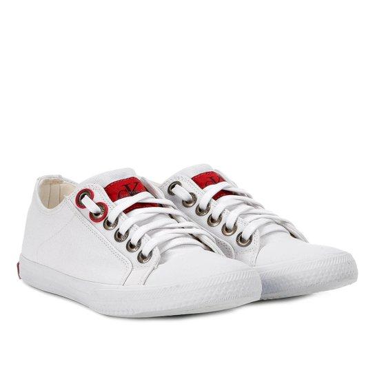 Tênis Calvin Klein Lona Masculino - Branco - Compre Agora  1000b6b1adb
