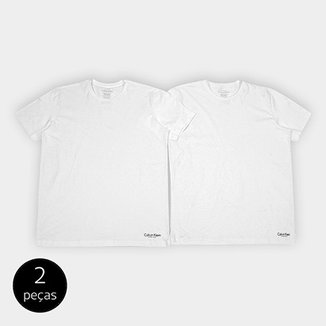 aad9d66371ec89 Kit de 2 Camisetas Calvin Klein Básicas Masculina