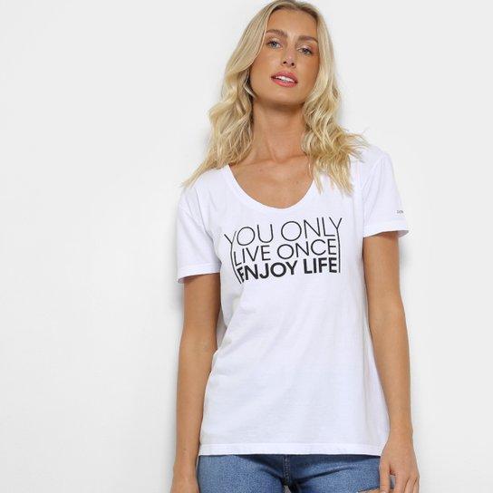 e585d9a44a18fc Camiseta Calvin Klein You Only Live Once Feminina - Branco