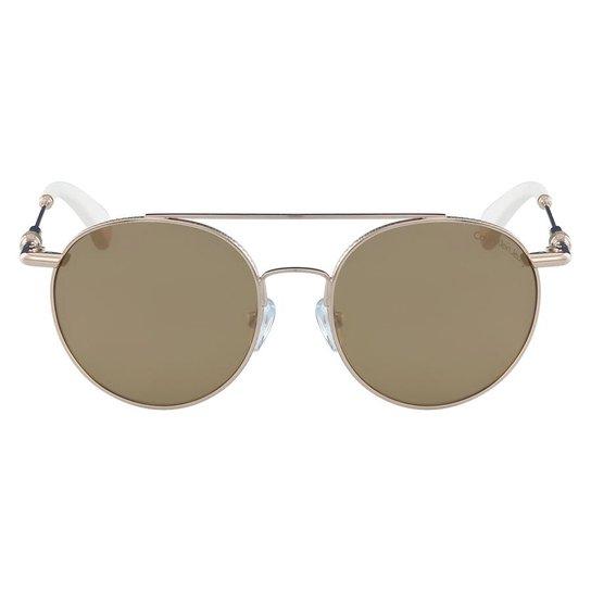 d7ece85674c3f Óculos de Sol Calvin Klein Jeans CKJ163S 702 50 - Branco - Compre ...