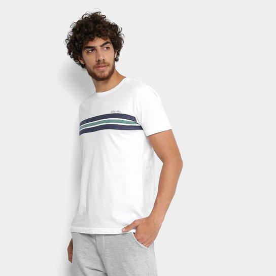fefa0abab Camiseta Calvin Klein Slim Estampa Faixa Masculina | Netshoes