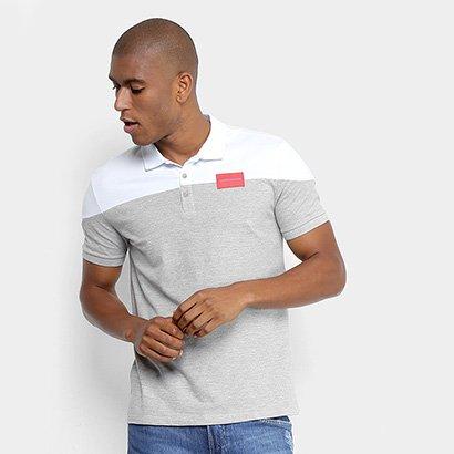 Camisa Polo Calvin Klein Bicolor Etiqueta Peito Masculina c0e48a82bf