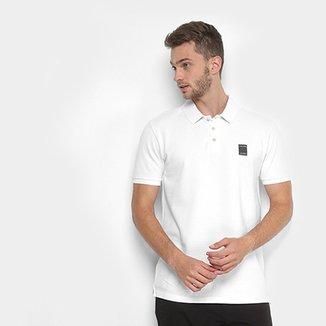 Camisa Polo Calvin Klein Relevo Logo Vazado Masculina 7c350b300b8e6