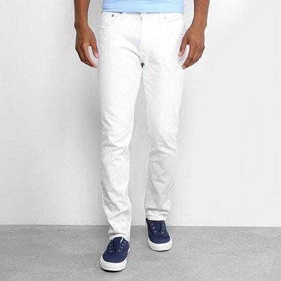 Calça Slim Calvin Klein Color Sarja Masculina