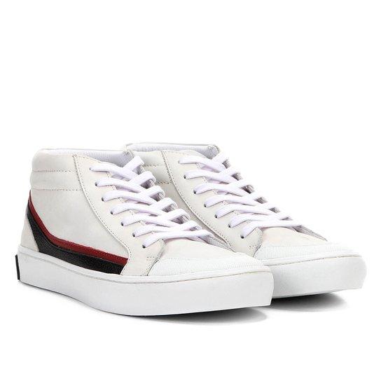 f6de2498f1a Tênis Couro Cano Alto Calvin Klein Masculino - Branco - Compre Agora ...