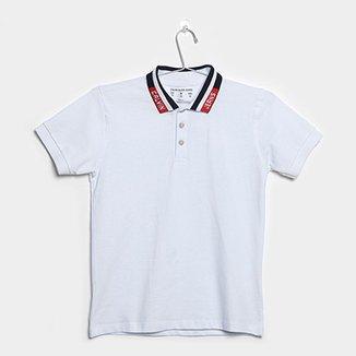 Camisa Polo Infantil Calvin Klein Gola CK Jeans Masculina 93ce64ed08