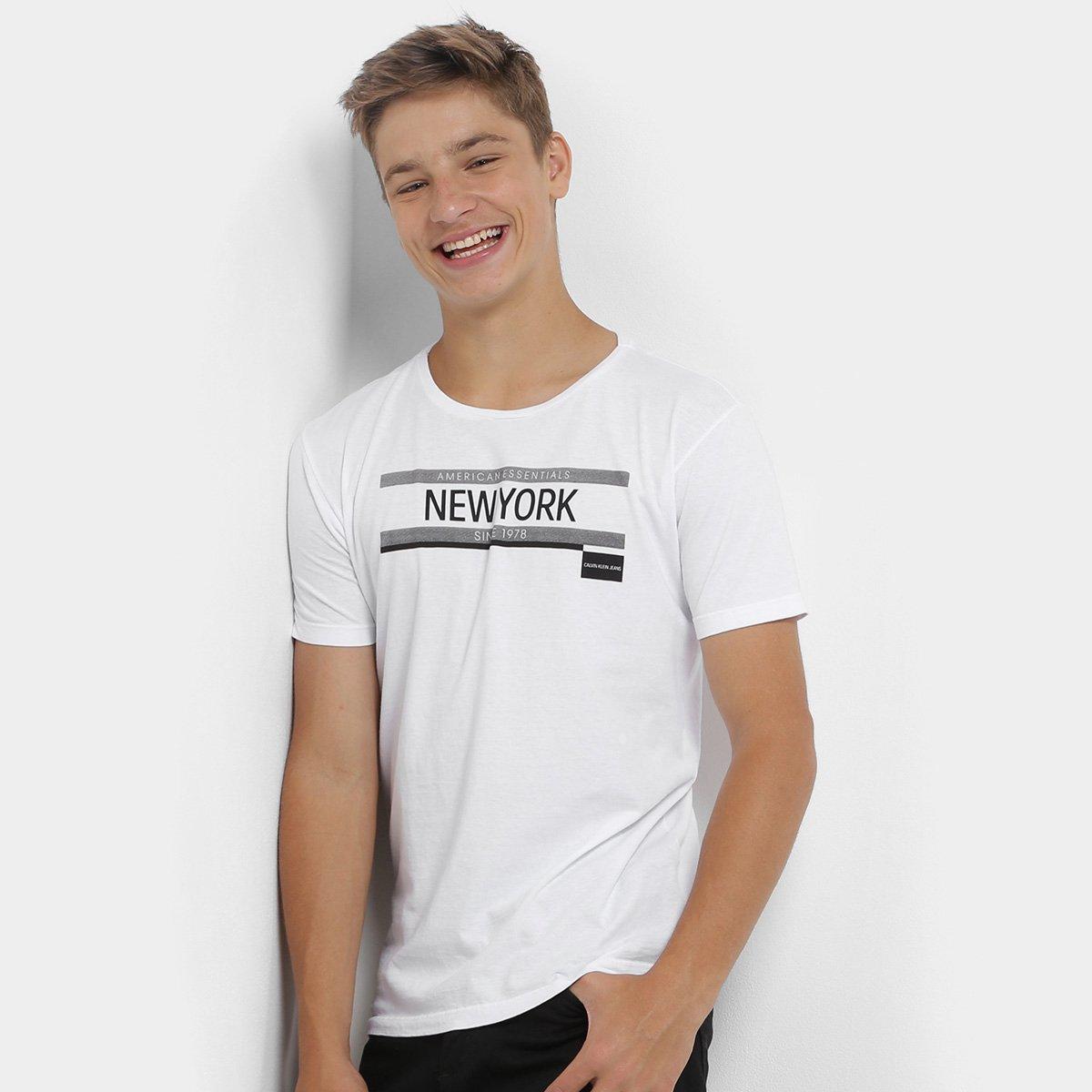20%OFF Camiseta Infantil Calvin Klein Estampada Masculina 2acf76a2095be