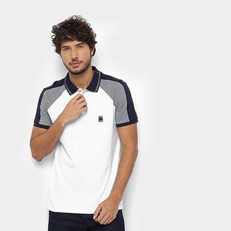 a84b4905a4b58 Camisa Polo Calvin Klein Gola Listra Masculina