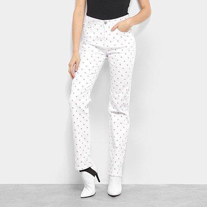 Calça Jeans Calvin Klein Reta Cintura Alta CK Feminina