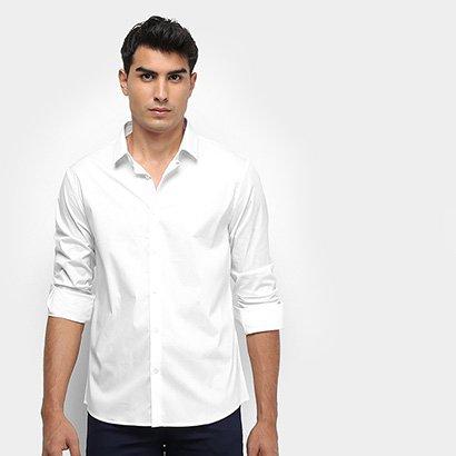 Camisa Social Calvin Klein Slim Monte Carlo Toque Suave Masculina
