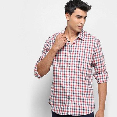 Camisa Xadrez Manga Longa Calvin Klein Regular Monte Carlo Exclus Masculina