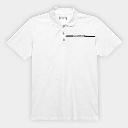 Camisa Polo Infantil Calvin Klein Logo Masculina