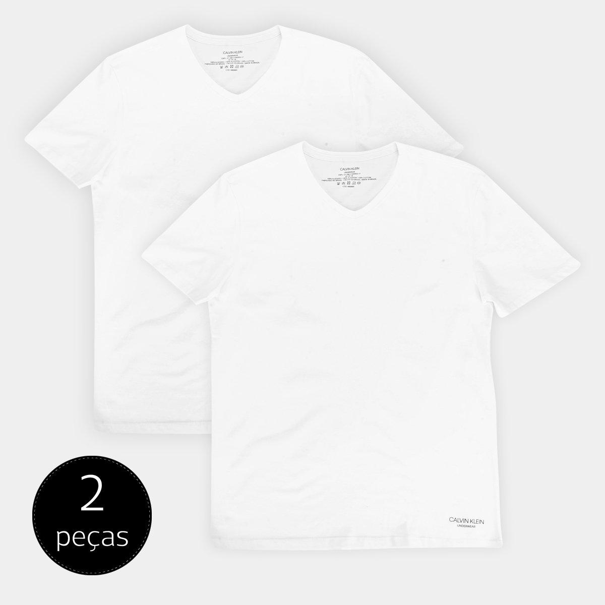 Foto 1 - Kit 2 Peças Camiseta Calvin Klein Meia Malha Masculina