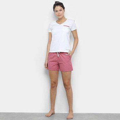 Pijama Calvin Klein Tricoline Xadrez Feminino