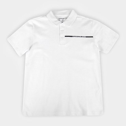Camisa Polo Infantil Calvin Klein Lisa Logo Masculina