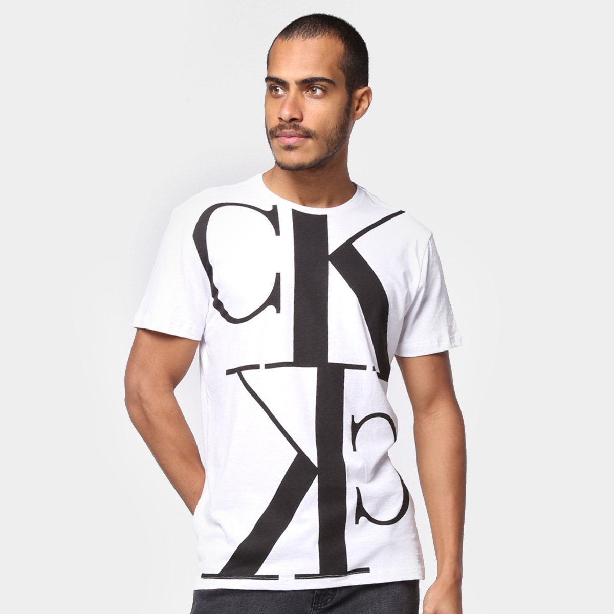 Camiseta Calvin Klein Estampada Manga Curta Masculina
