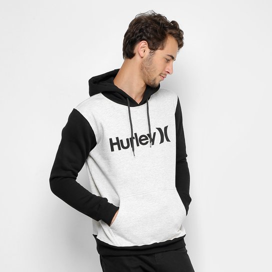 Moletom Hurley Fechado Start c  Capuz Masculino - Branco - Compre ... 3685ce8b164