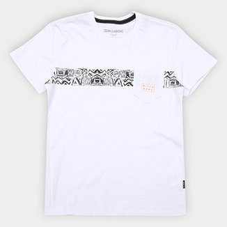 7d83042db4a Camiseta Infantil Billabong Estampa Étnica Team Stripebk Masculina