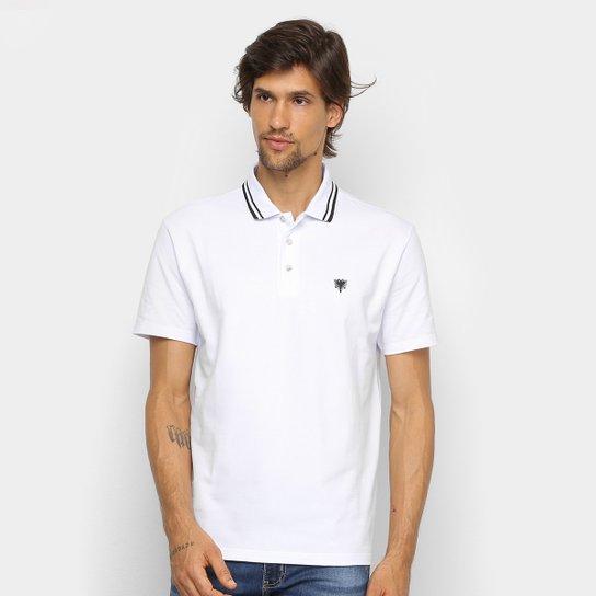 dd92b2be6d09a Camisa Polo Cavalera Básica Bordado Masculina - Branco e Verde Água ...