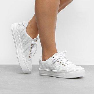 88702872d2a Compre Tenis Todo Branco em Couro Online