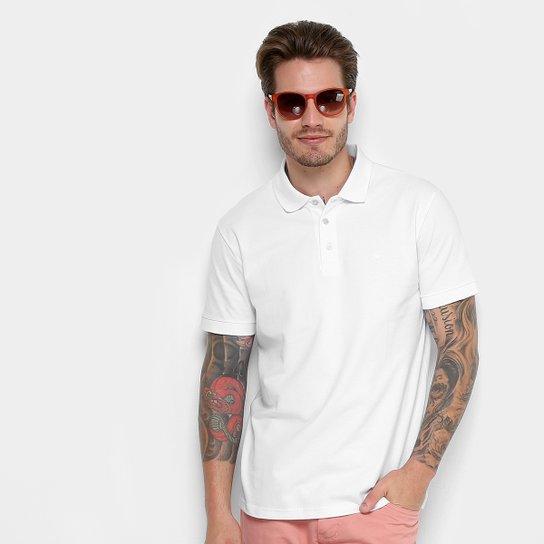 Camisa Polo Básica Cavalera Manga Curta Feminina - Branco - Compre ... 2abb33ce4d