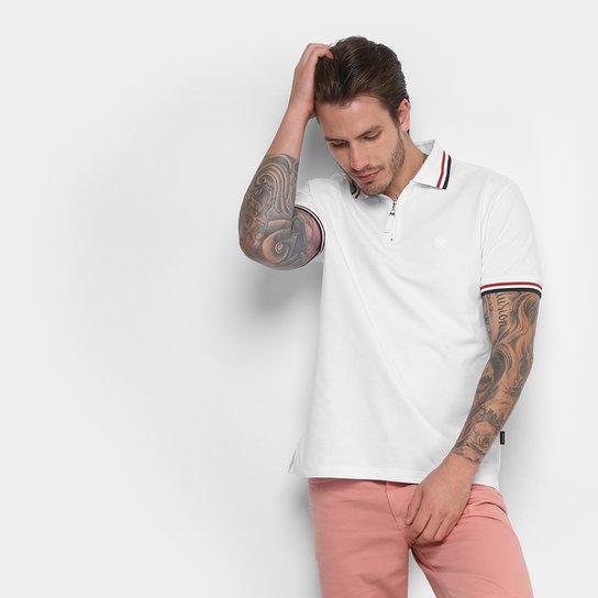 Camisa Polo Cavalera com Zíper Masculina - Branco - Compre Agora ... 4989061d99ad5