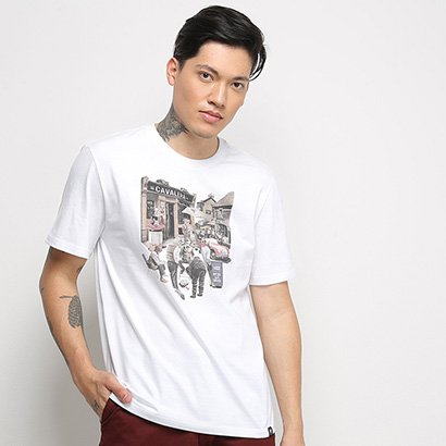 Camiseta T-Shirt Cavalera Estampada Masculina