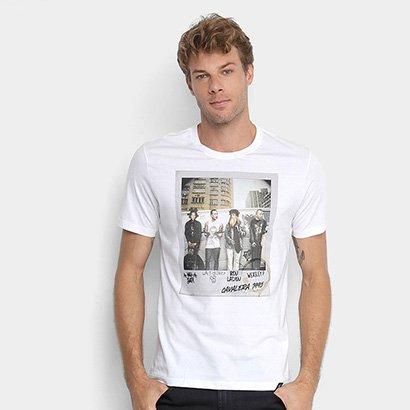 Camiseta Cavalera Polaroid Skate Gang Masculina