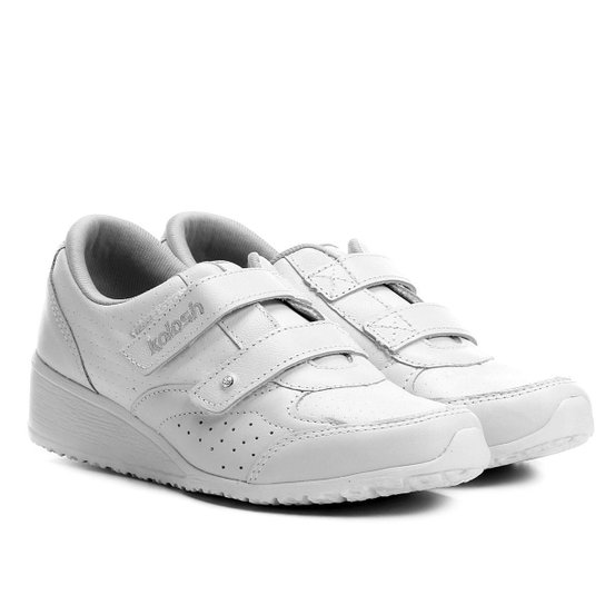 872f47f82c1 Tênis Couro Kolosh Anabela Velcros Feminino - Branco - Compre Agora ...