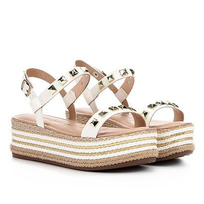 Sandália Plataforma Dakota Corda Spikes Feminina