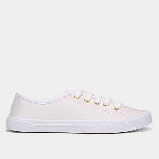 4c7409c0a Tênis Moleca Cadarço Feminino - Branco | Netshoes