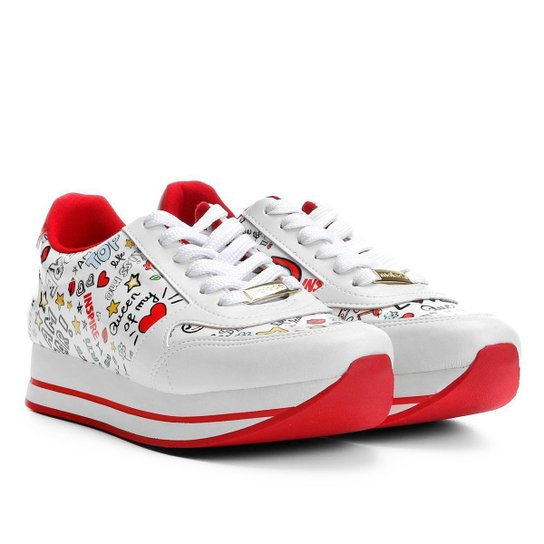 2202c26ec7 Tênis Moleca Jogging Multi Estampas Feminino - Branco - Compre Agora ...