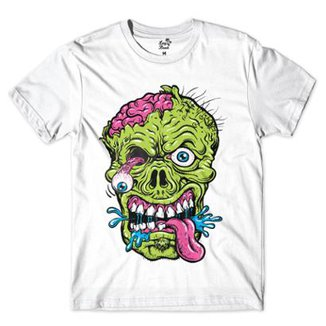 Camiseta Long Beach Caveira Zombie Sublimada Masculina 395fe1d6c42aa