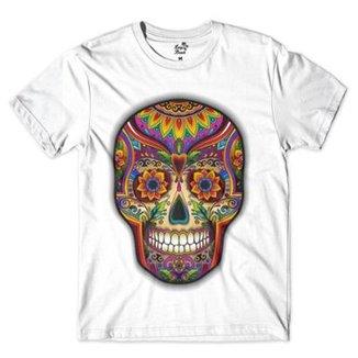 Camiseta Long Beach Caveira Psicodelica Sublimada Masculina bfee5cc4edd79