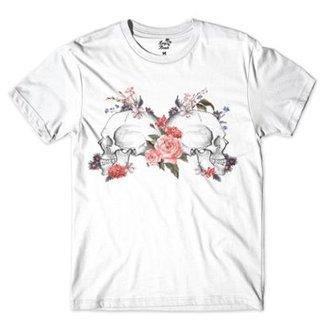 00f3945d0035a Camiseta Long Beach Caveiras Perfil Sublimada Masculina