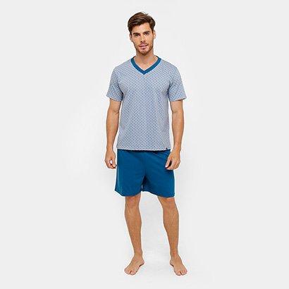 Pijama Lupo Curto Estampado Masculino