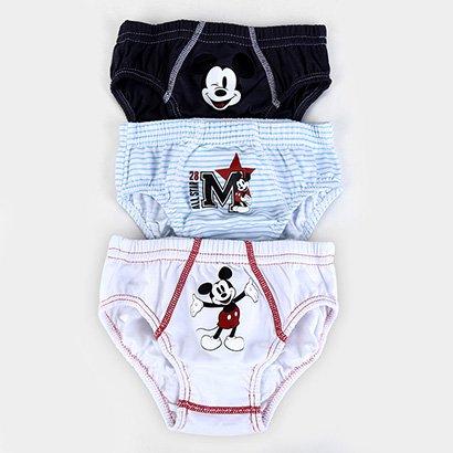 Kit Cueca Lupo Slip Disney Mickey Masculina - 3 Peças